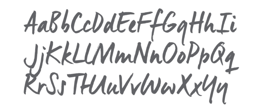 Secondary typeface image